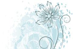 淡雅手绘花卉矢量素材