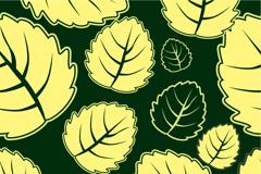 卵形树叶背景矢量素材