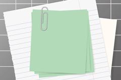 彩色便签和记事本纸张矢量素材