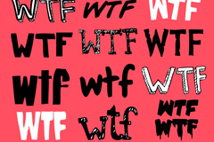 WTF艺术字体矢量素材