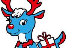 卡通圣诞麋鹿矢量素材
