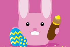 复活节板牙兔子矢量素材