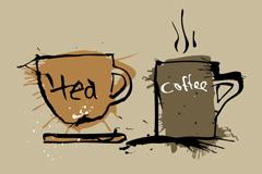 咖啡茶杯插画矢量素材