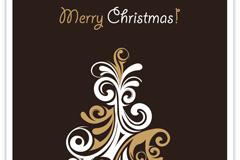 花纹圣诞树矢量素材