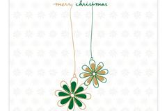 简洁圣诞卡片矢量素材