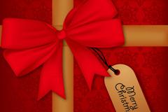 精美圣诞节蝴蝶结礼包矢量素材