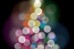 精美光晕圣诞树矢量素材