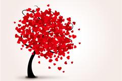 美丽爱心树矢量素材