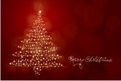 璀璨圣诞树矢量素材
