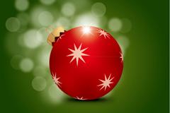 精致圣诞彩球矢量素材