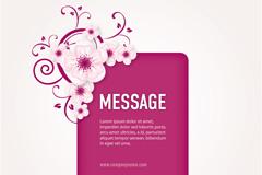 粉色花朵装饰背景矢量素材