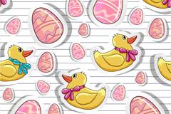 卡通鸭子标贴画矢量素材