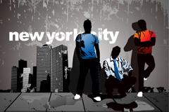 潮流纽约插画矢量素材