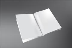 精致3D书模板矢量素材