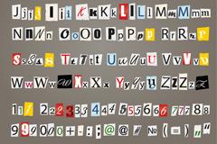 创意英文字体矢量素材