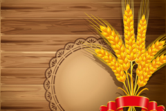 金色麦穗背景矢量素材