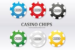 赌场筹码矢量素材