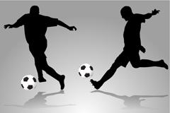 足球运动剪影矢量素材