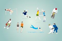 奥运会比赛项目矢量素材