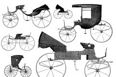 复古老式马车矢量素材