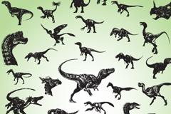 逼真恐龙设计矢量素材