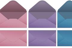 彩色简洁信封设计矢量素材
