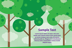 卡通树林背景矢量素材