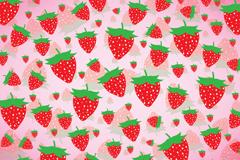 童趣草莓背景矢量素材