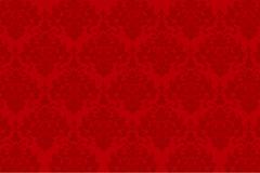 红色欧式花纹背景矢量素材