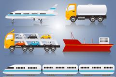 长途运输车辆矢量素材