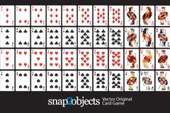 创意扑克卡片矢量素材