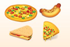 卡通快餐食品矢量素材