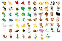 百款卡通动物集合矢量素材
