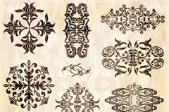 精致装饰花纹设计矢量素材