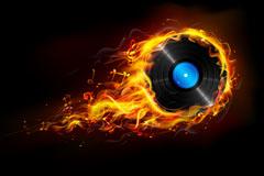 火焰唱片矢量素材