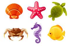 9款卡通海洋生物设计矢量素材