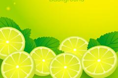 美味柠檬插画矢量素材