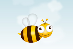 卡通蜜蜂插画矢量素材