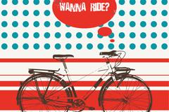 创意自行车插画矢量素材