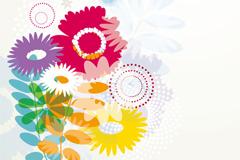 复古花卉背景设计矢量素材