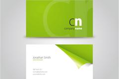 绿色清新名片设计矢量素材