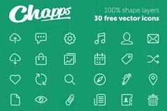 30个IOS7风格简洁线条图标PSD素材