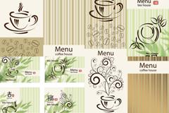 清新咖啡茶品插画矢量素材
