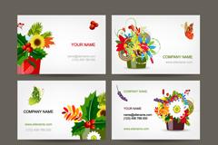 精美花卉卡片设计矢量素材