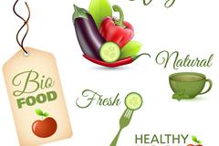 精美食品标签矢量素材