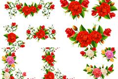 精美玫瑰边框矢量素材