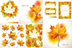 精美秋季枫叶设计矢量素材