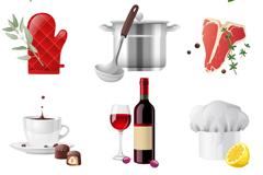 9种精致厨房用品矢量素材