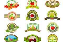 精致农产品标签矢量素材
