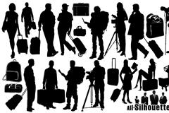 14款旅行人物剪影矢量素材